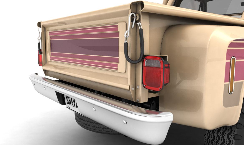 generic 4wd stepside pickup truck 11 3d model 3ds max fbx obj 309305