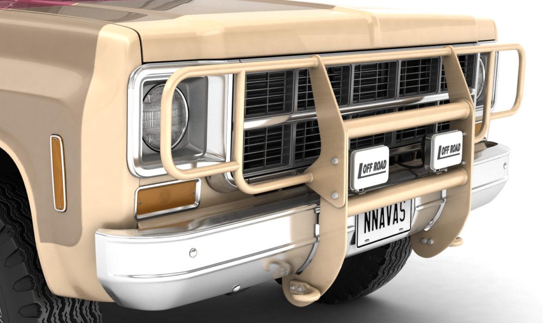 generic 4wd stepside pickup truck 11 3d model 3ds max fbx obj 309306