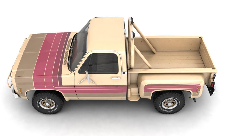 generic 4wd stepside pickup truck 11 3d model 3ds max fbx obj 309307