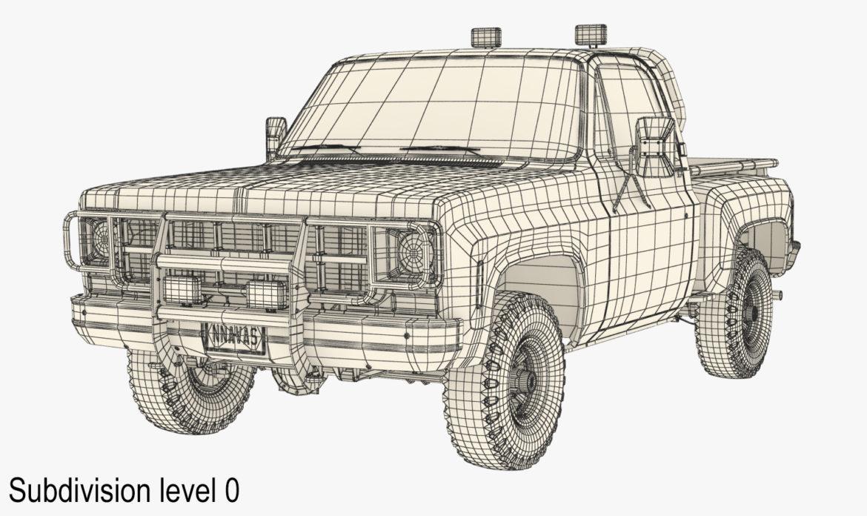 generic 4wd stepside pickup truck 11 3d model 3ds max fbx obj 309308