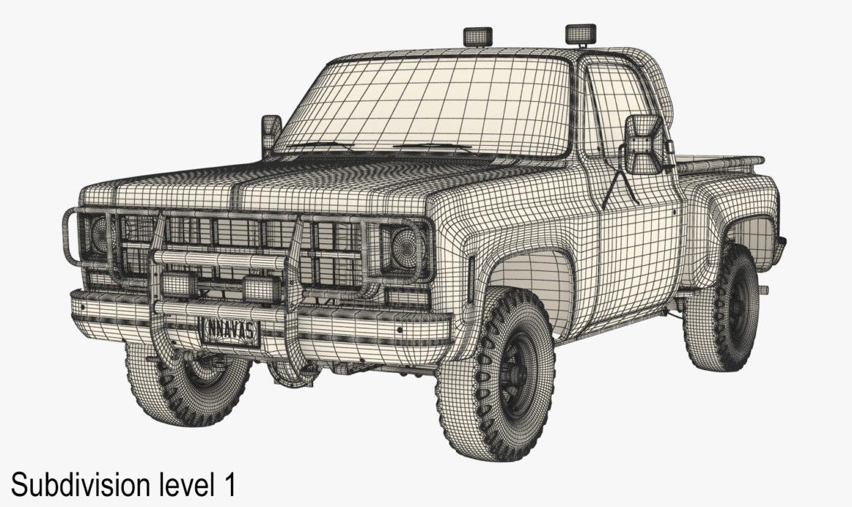generic 4wd stepside pickup truck 11 3d model 3ds max fbx obj 309309