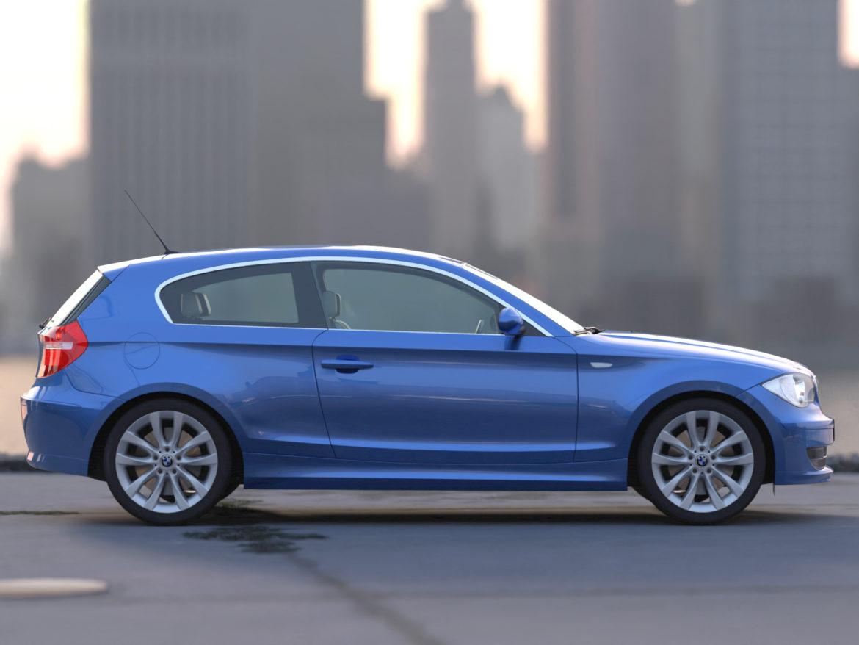 e81 1-series hatchback 3d model 3ds max fbx c4d dae obj 309553