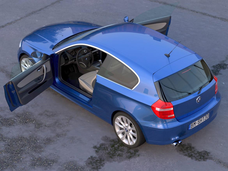 e81 1-series hatchback 3d model 3ds max fbx c4d dae obj 309556