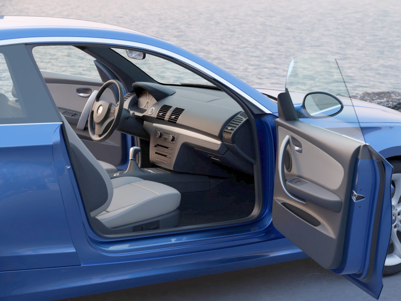 e81 1-series hatchback 3d model 3ds max fbx c4d dae obj 309557