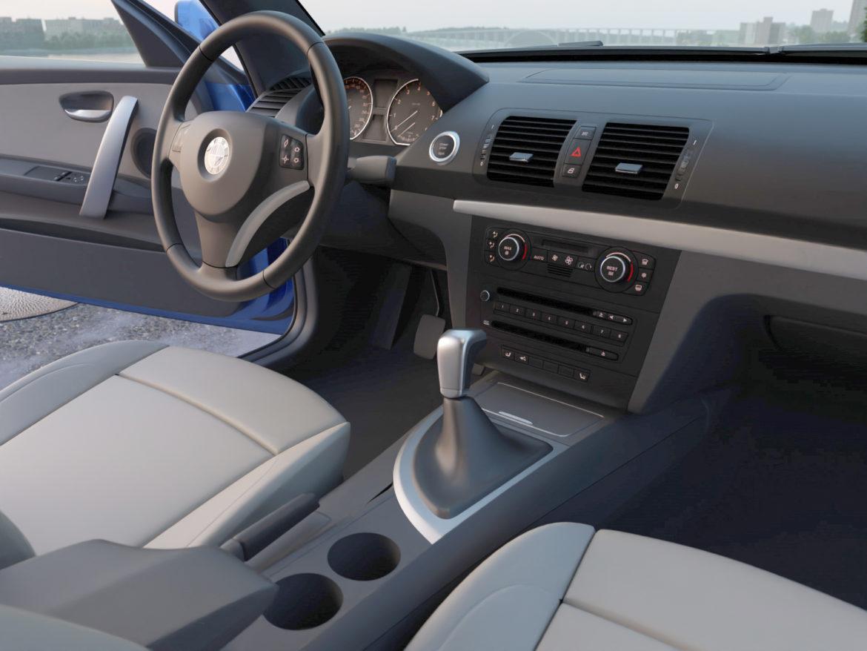 e81 1-series hatchback 3d model 3ds max fbx c4d dae obj 309559