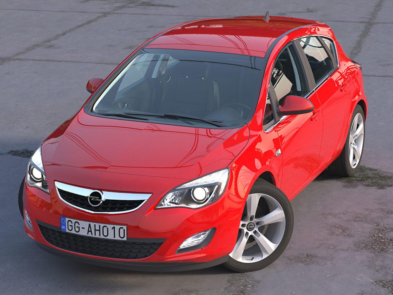 astra hatchback 2010 3d model 3ds max fbx c4d dae obj 309664