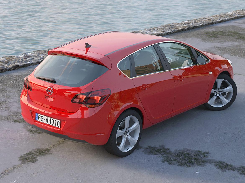 astra hatchback 2010 3d model 3ds max fbx c4d dae obj 309665