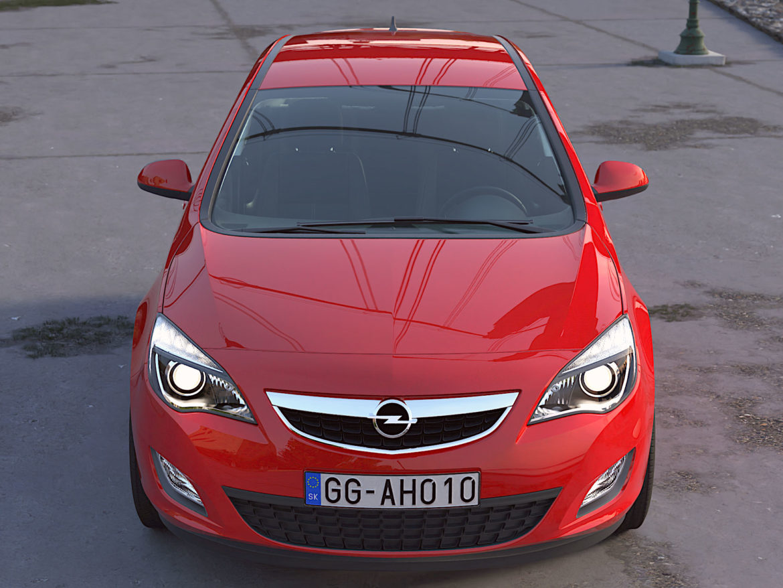 astra hatchback 2010 3d model 3ds max fbx c4d dae obj 309666