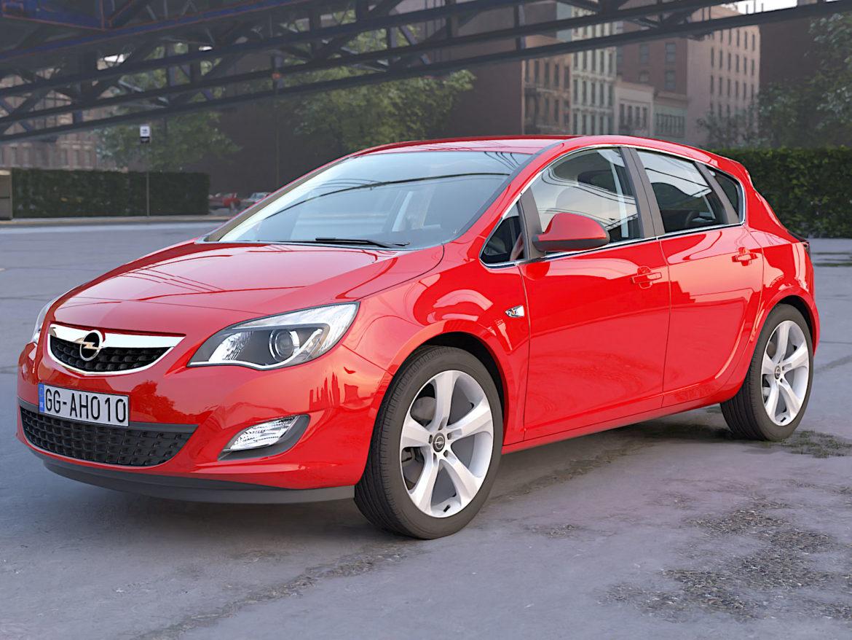 astra hatchback 2010 3d model 3ds max fbx c4d dae obj 309669
