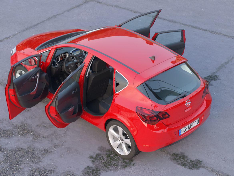 astra hatchback 2010 3d model 3ds max fbx c4d dae obj 309670