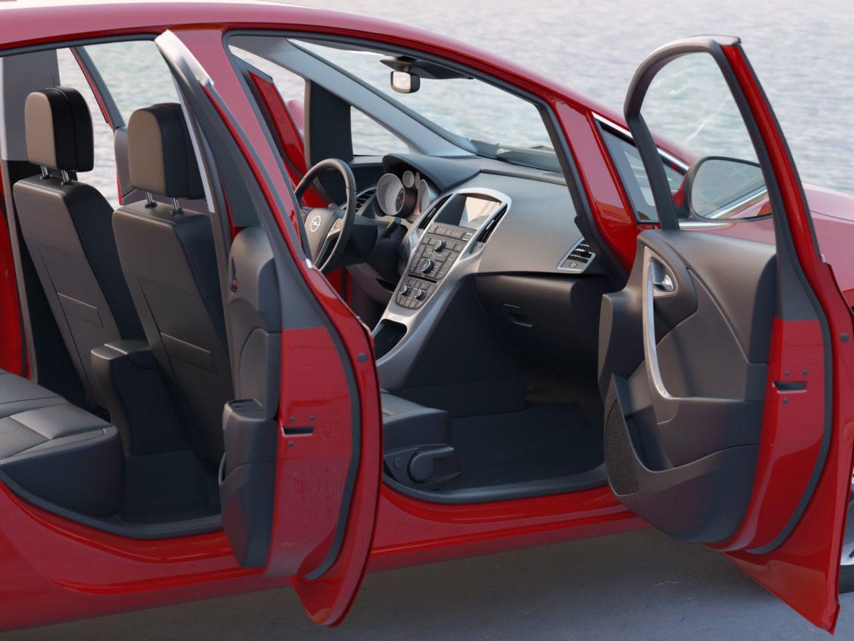 astra hatchback 2010 3d model 3ds max fbx c4d dae obj 309671