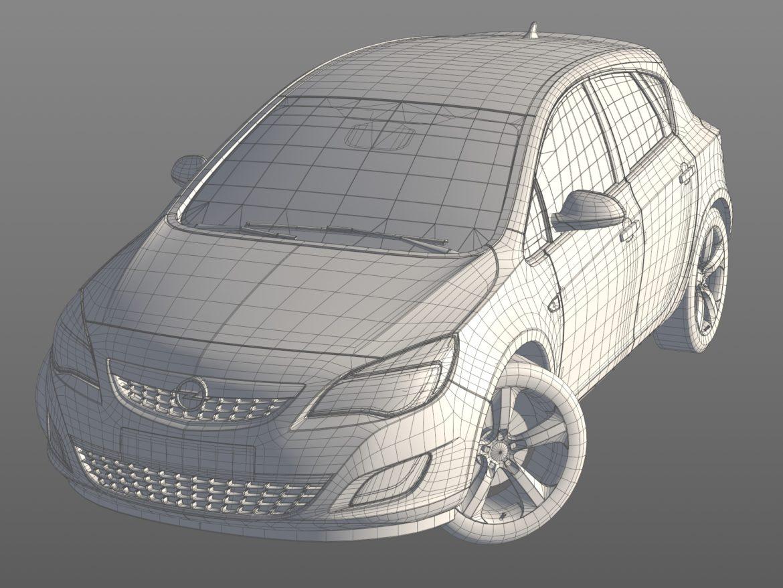 astra hatchback 2010 3d model 3ds max fbx c4d dae obj 309676