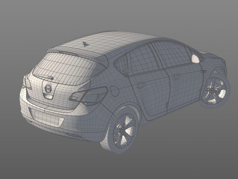 astra hatchback 2010 3d model 3ds max fbx c4d dae obj 309677