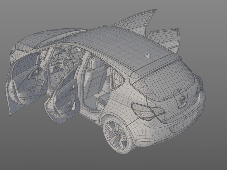 astra hatchback 2010 3d model 3ds max fbx c4d dae obj 309678
