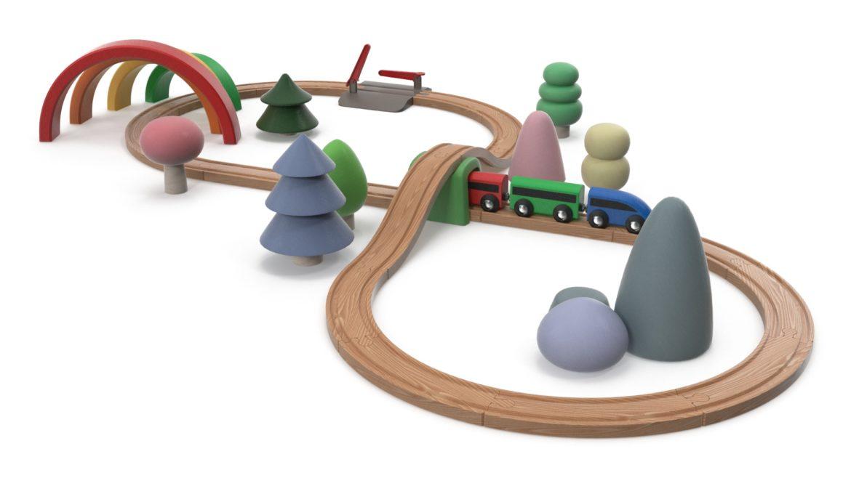 wooden train 3d model 3ds max fbx dae  obj 309807