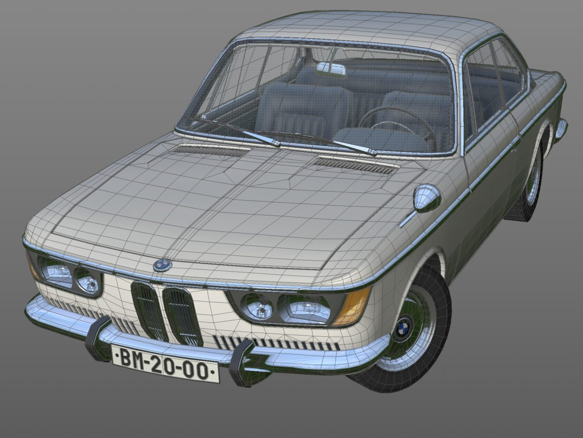 e9 2000cs coupe 1967 3d model 3ds max fbx c4d dae obj 309925