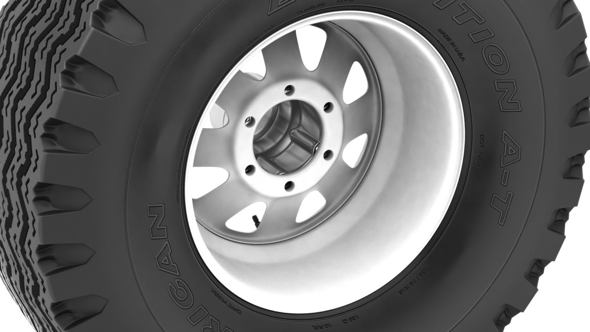 off road wheel and tire 12 3d model 3ds max fbx blend obj 310105