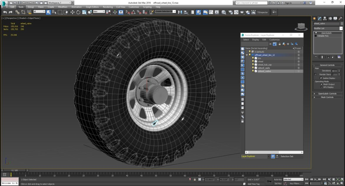 off road wheel and tire 12 3d model 3ds max fbx blend obj 310111