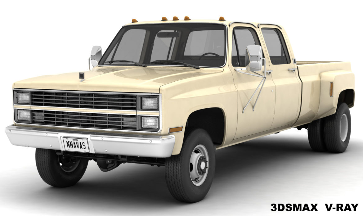 generic 4wd dually pickup truck 6 3d model 3ds max fbx blend obj 310444