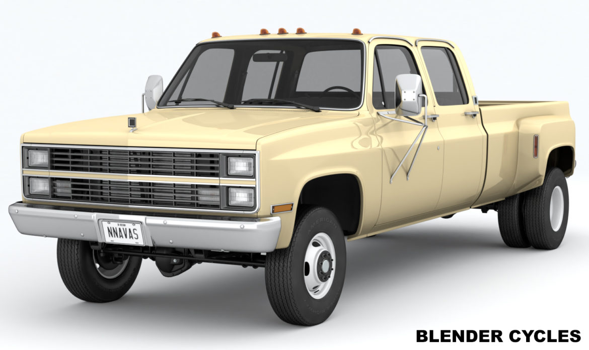 generic 4wd dually pickup truck 6 3d model 3ds max fbx blend obj 310445