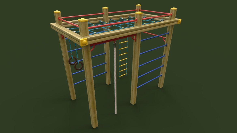 childrens sports complex 3d model 3ds max fbx obj 310447