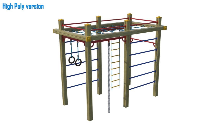 childrens sports complex 3d model 3ds max fbx obj 310448