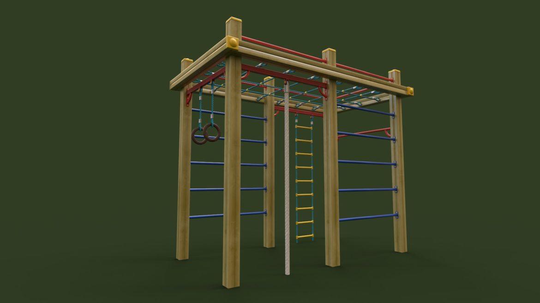 childrens sports complex 3d model 3ds max fbx obj 310449