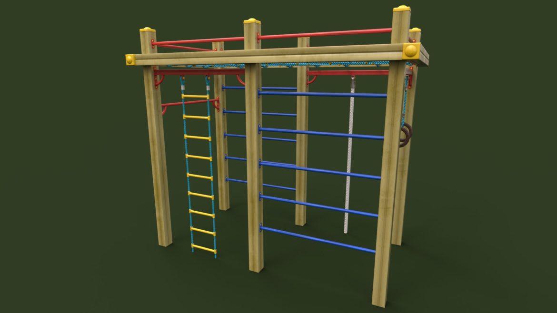childrens sports complex 3d model 3ds max fbx obj 310451