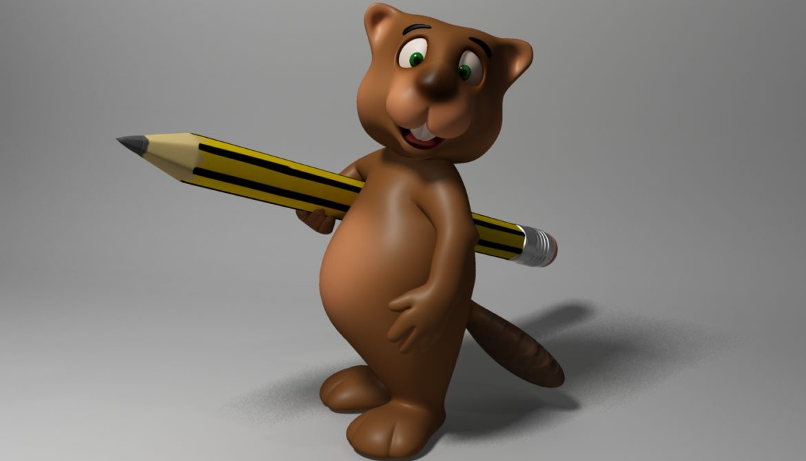cartoon beaver rigged 3d model 3ds max fbx  obj 310585