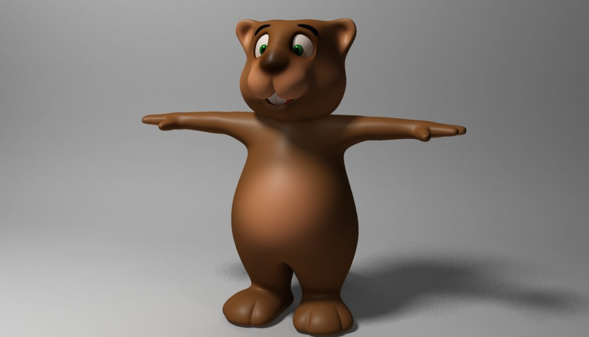 cartoon beaver rigged 3d model 3ds max fbx  obj 310586
