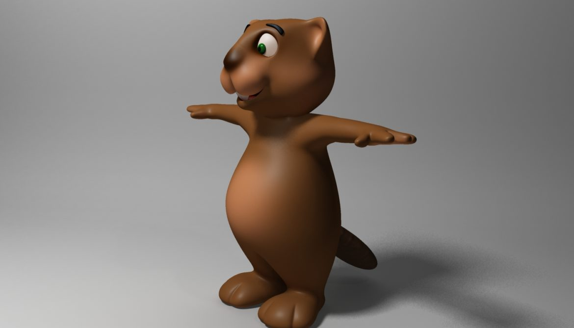 cartoon beaver rigged 3d model 3ds max fbx  obj 310587
