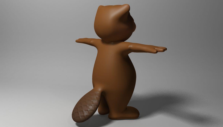 cartoon beaver rigged 3d model 3ds max fbx  obj 310588