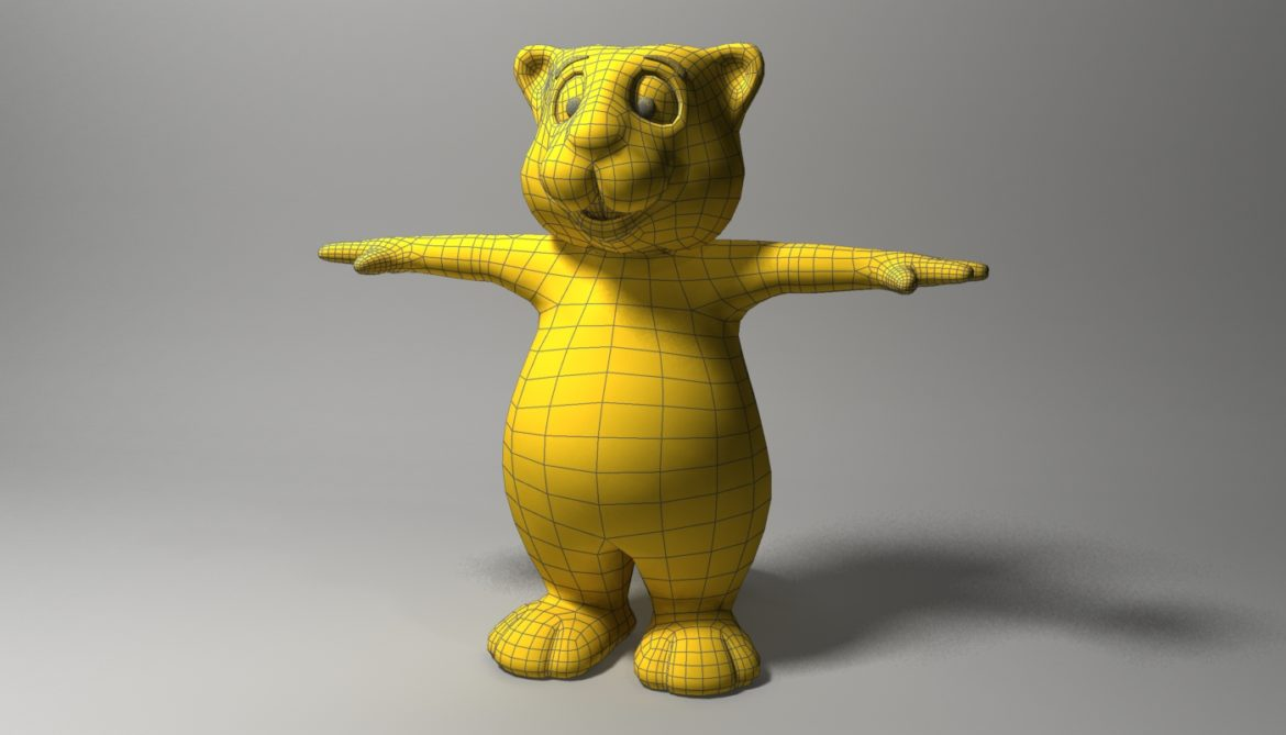 cartoon beaver rigged 3d model 3ds max fbx  obj 310589