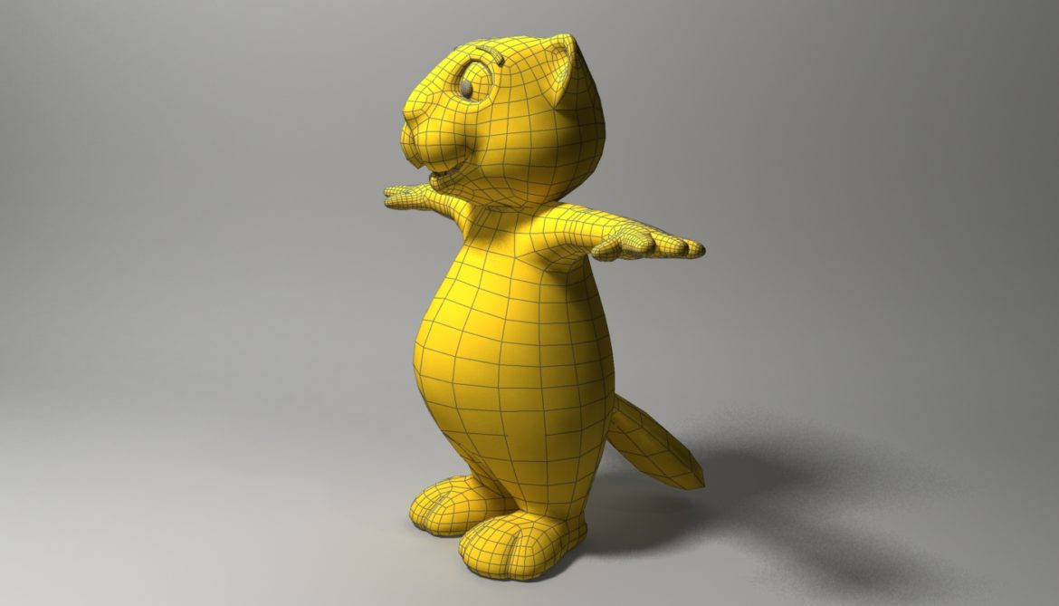 cartoon beaver rigged 3d model 3ds max fbx  obj 310590