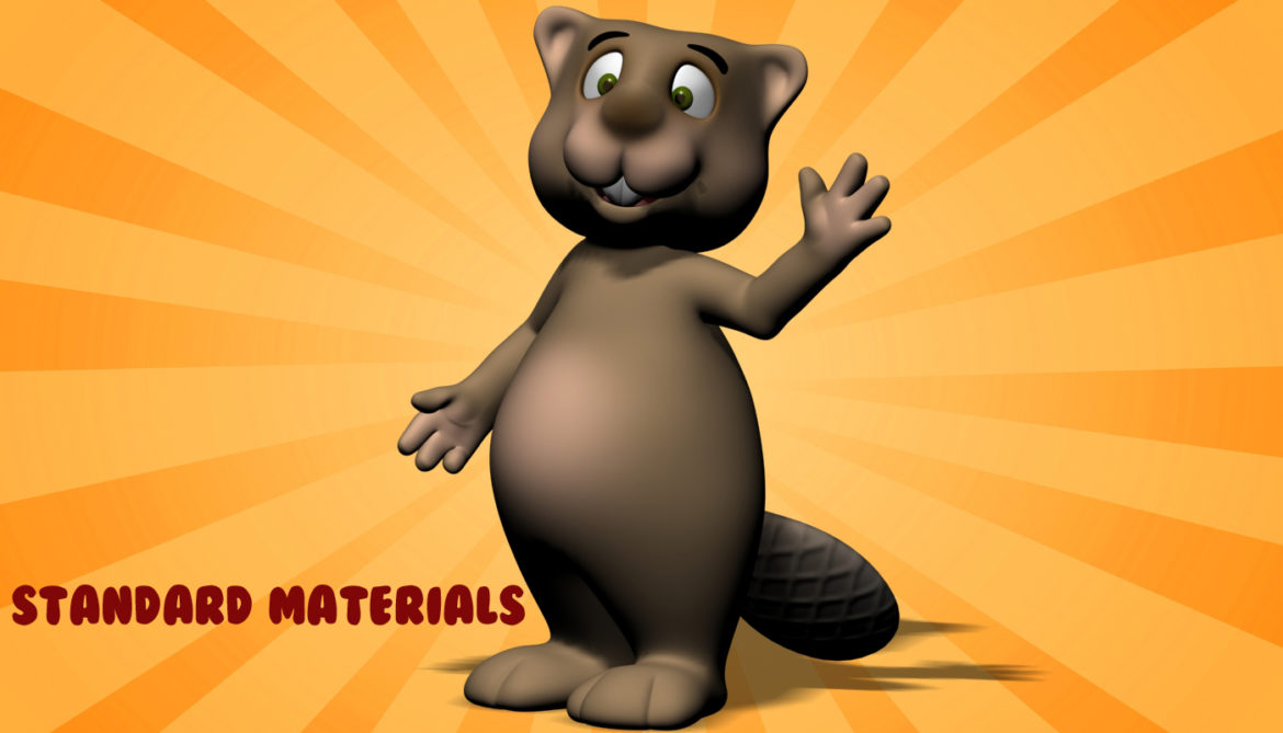 cartoon beaver rigged 3d model 3ds max fbx  obj 310594