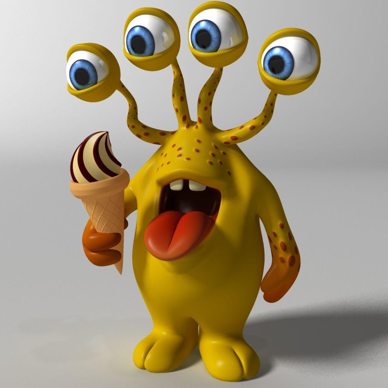 хүүхэлдэйн киноны шар өнгөтэй 3d загвар 3ds max fbx obj 310790