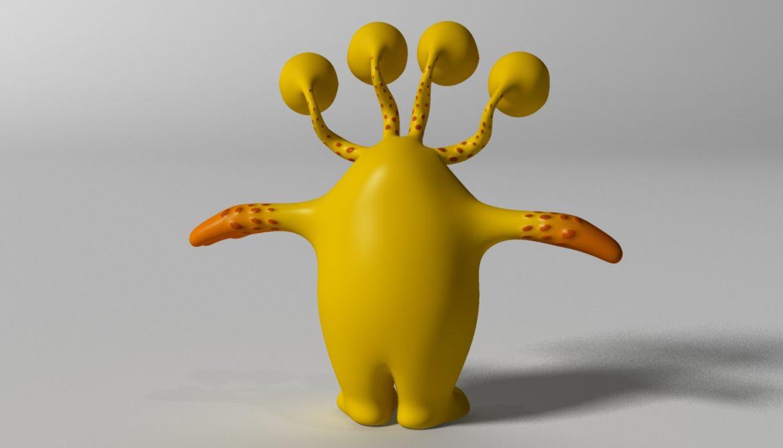 хүүхэлдэйн киноны шар өнгөтэй 3d загвар 3ds max fbx obj 310795