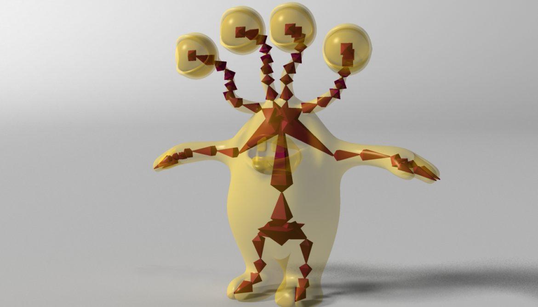 хүүхэлдэйн киноны шар өнгөтэй 3d загвар 3ds max fbx obj 310801
