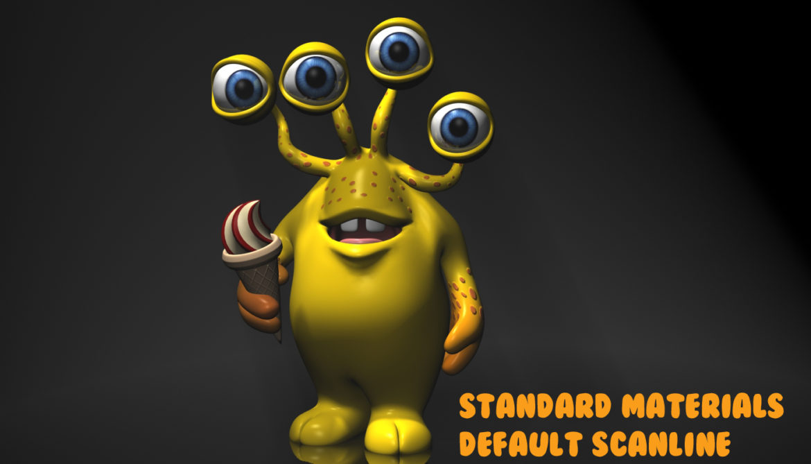 cartoon yellow moster rigged 3d model 3ds max fbx  obj 310802