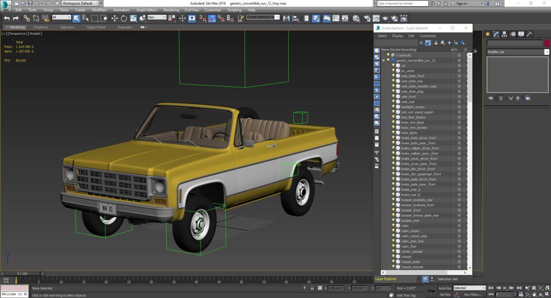 generic convertible suv 12 3d model 3ds max fbx blend obj 310912