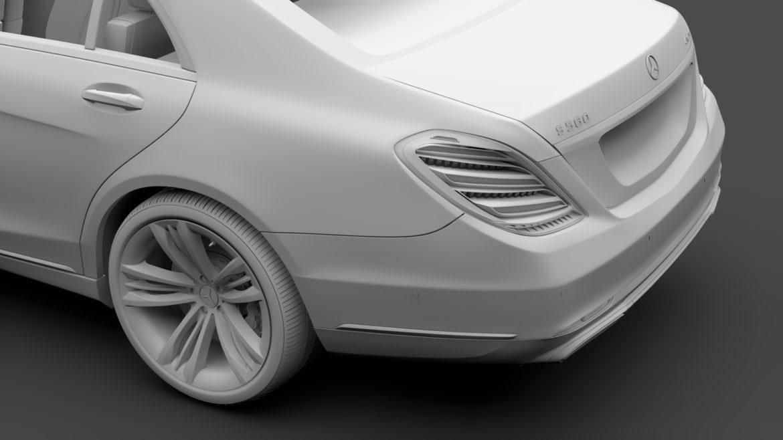 mercedes benz s 560 lang 4matic v222 2018 3d model 3ds max fbx c4d lwo ma mb hrc xsi obj 310983