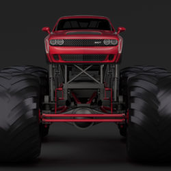 monster truck dodge challenger demon 3d model 3ds max fbx c4d lwo ma mb hrc xsi obj 311326
