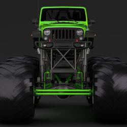 monster truck jeep wrangler rubicon recon 3d model 3ds max fbx c4d lwo ma mb hrc xsi obj 311359