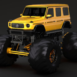 monster truck mercedes amg g 65 3d model 3ds max fbx c4d lwo ma mb hrc xsi obj 311392