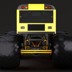 monster truck school bus 3d model 3ds max fbx c4d lwo ma mb hrc xsi obj 311425