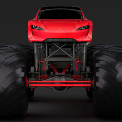 monster truck tesla roadster 3d model 3ds max fbx c4d lwo ma mb hrc xsi obj 311458