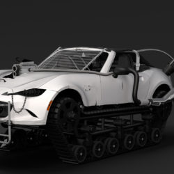 mad max mazda mx 5 maita crusher 3d model 3ds max fbx c4d lwo ma mb hrc xsi obj 311590