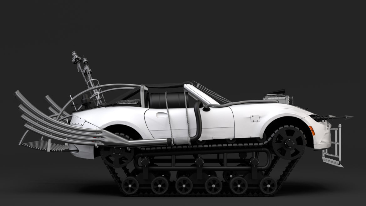 mad max mazda mx 5 maita crusher 3d model 3ds max fbx c4d lwo ma mb hrc xsi obj 311598