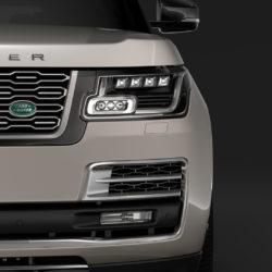 range rover svautobiography limo l405 2019 3d model 3ds fbx c4d lwo ma mb hrc xsi obj 311655