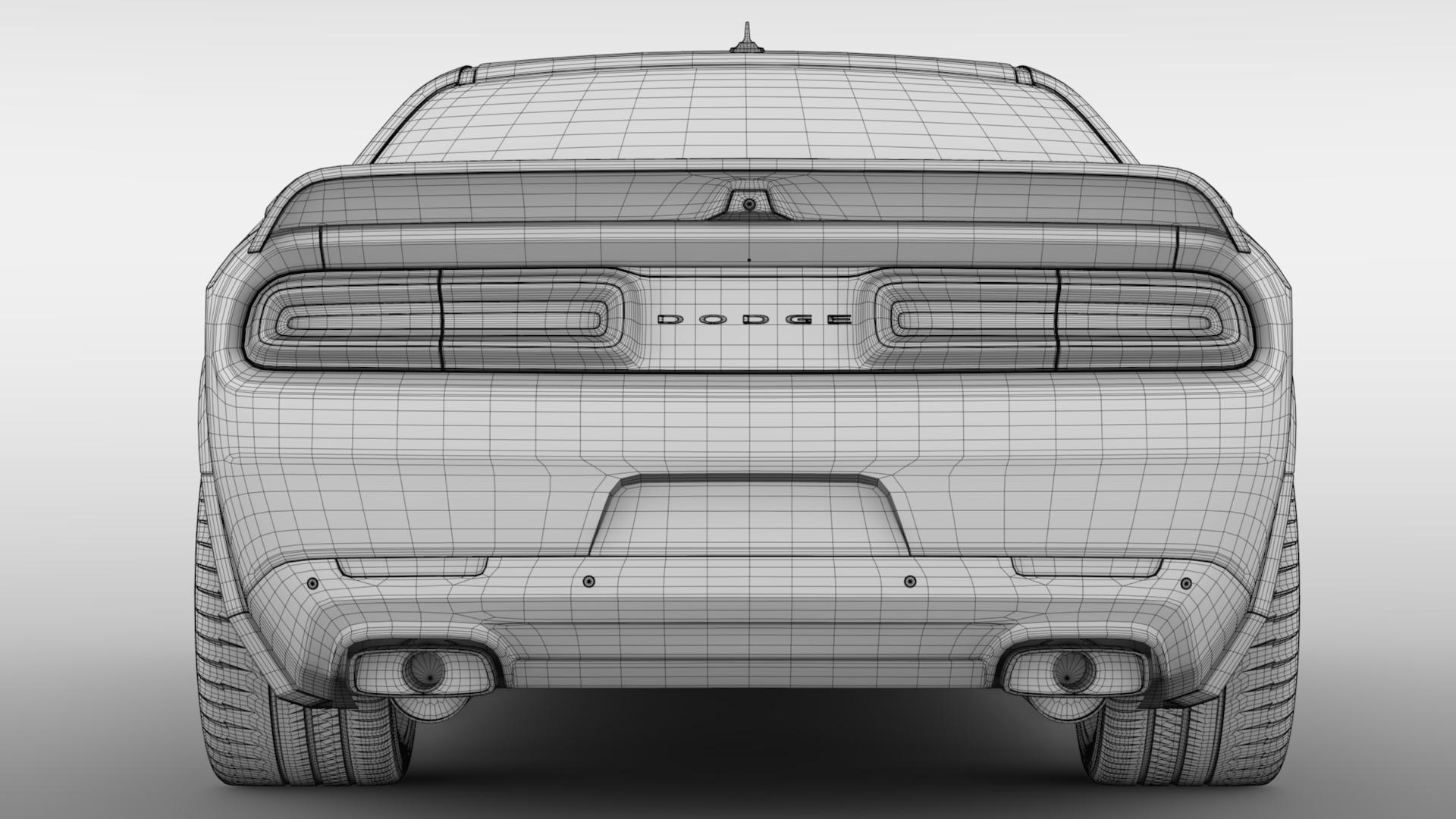 Dodge Challenger Srt Hellcat Redeye Widebody Lc 3d Model Flatpyramid